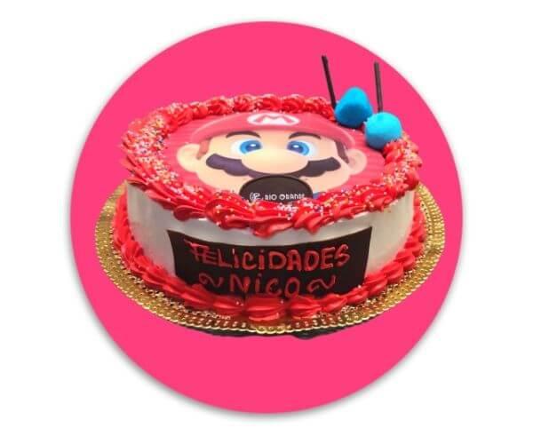 Tarta Circular Super Mario Bros RioGrande Pastelería Córdoba
