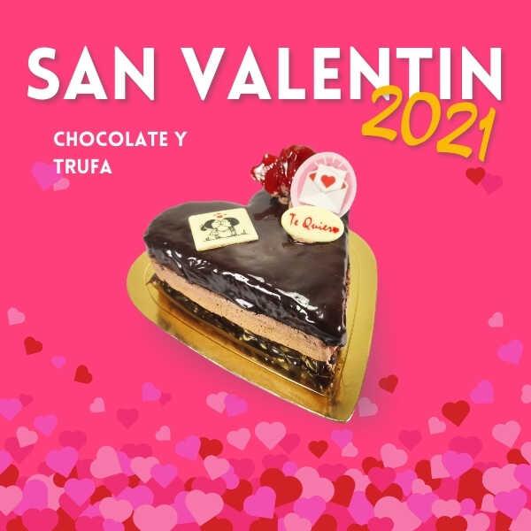 Tarta San Valentin Chocolate y Trufa - RioGrande Pastelería Córdoba