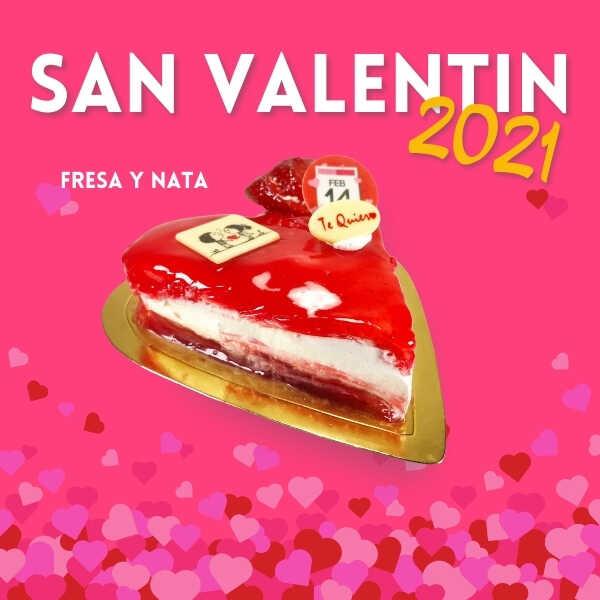 Tarta San Valentin Mermelada Fresa y Nata - RioGrande Pastelería Córdoba