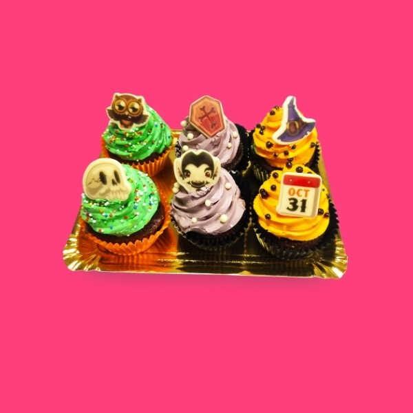 Bandeja Pequeña CupCakes Halloween - RioGrande Pastelería