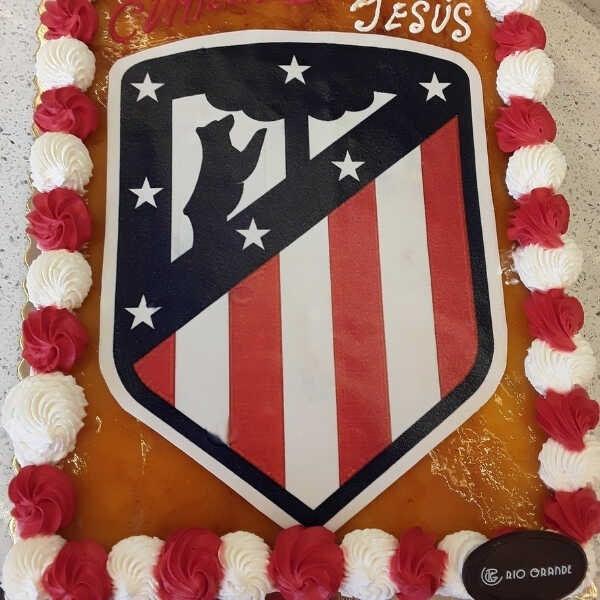 Tarta Fútbol Escudo Atlético Madrid